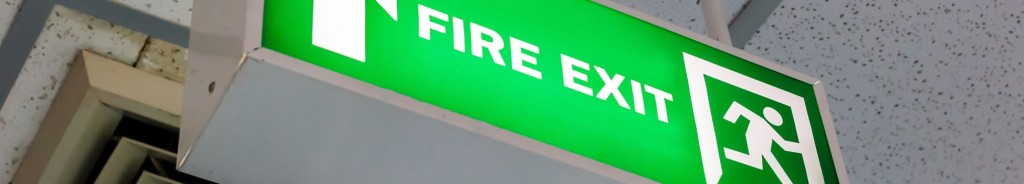 Fire Safety Photoluminescent Light-up Exit Signs